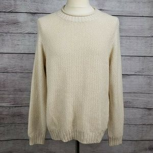 H&M Pullover Crewneck Men's Cable Knit Sweater XL
